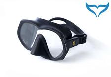 Poseidon Tauchmaske 1-fenstermaske Phantom Black Line Tauchermaske Maske schwarz