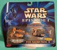 Galoob Star Wars Episode I Micro Machines Pod Racer Pack II Vintage 1998 NIB