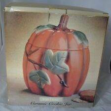 Vintage Home Trends Ceramic Cookie Jar Pumpkin Thanksgiving