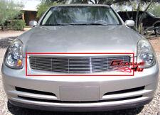 Fits 2003-2004 Infiniti G35 Main Upper Billet Grille Insert