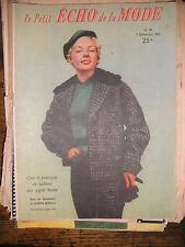 Echo de la mode N° 49 1954  Patron Mode vintage Couture Robe Tricot Enfants 50'