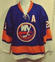 Reebok CCM Men's NY Islanders Kyle Okposo #21 Jersey XL Blue Orange Sewn A393