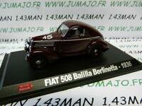 IT70N voiture 1/43 hachette 1000 MIGLIA : FIAT 508 balilla berlinetta 1936