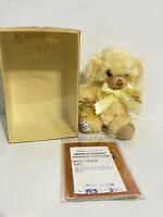 Merrythought Cheeky Lemonade Bear 6 in Mohair Limited Edition with box and paper