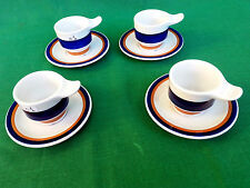 SET 4 TAZZINE DA CAFFE' PORCELLANA RICHARD GINORI MOD. ARISTON ANNI 70. N° N01.