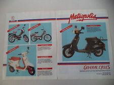 advertising Pubblicità 1989 PEUGEOT METROPOLIS SC L 50/103 SPX/MVL/STL 2 RAPIDO