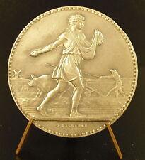 Médaille argent paysan L'agriculture  sc Lagrange sow sower farmer silver medal