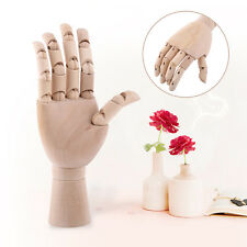 7 inch Wooden Right Hand Drawing Model Jointed Movable Fingers Artist Sculpture