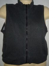 Junior's Zippered Vest Size Small Gray Cotton Blend Calvin Klein Jeans