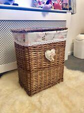 Xtra Large Family Light Brown Honey Walnut Wicker Laundry Basket Rattan Storage