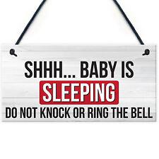 Shh.. Baby Is Sleeping Do Not Disturb Nursery Hanging Plaque Baby Door Cot Sign