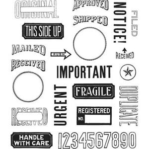 MAIL ART - Tim Holtz Stampers Anonymous Cling Stamp Set - CMS339