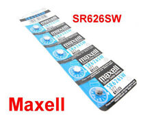 MAXELL SR626SW 377 Silver Oxide Button Cell Battery - 5 Piece Pad - BNew - Auth