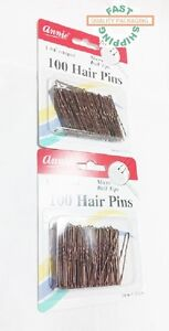 """Annie Hair Pins 100 Count 1-3/4"""" crimped Lot of 2 Packs  FAST SHIPPING !!!"""