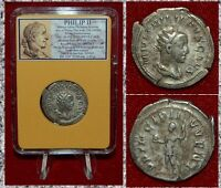 Ancient Coin PHILIP II Standing On Reverse With Globe Silver Antoninianus Rare!