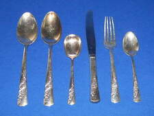 WALLACE SILVER PLATE FLATWARE BRIDAL CORSAGE 6 MISC PIECES