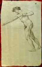 Jean Baptiste Louis CARRÉ (1749- 1835) XVIIIème -  Nu masculin - Dessin  ancien