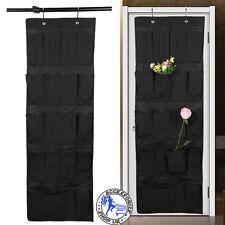 20 Pockets Over Door Hanging Bag Box Shoe Rack Hanger Storage Tidy Organizer UK