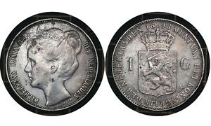 1 Gulden 1898 The Netherlands  🇳🇱 Silver Coin Wilhelmina # 122