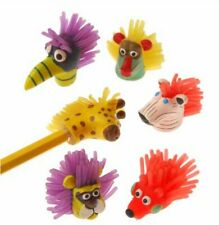 12 Assorted Cute Wild Animal Pencil Toppers