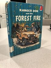 Vtg Ranger Don And The Forest Fire Book Jeep Wrangler Adventure Bear Boy Story