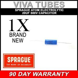 New Sprague Atom 20uF 500V Electrolytic Capacitor 20% 20 uF @ 500 VDC TVA-1906