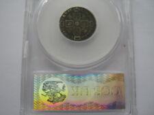 1681 Sixpence CGS graded F 30