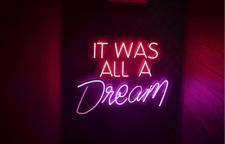 Neon Light It Was All A Dream Beer Bar Pub Party Room Wall Decor Signs Gift