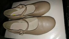 Girl's Tap Shoes So Danca Beige/Nude Color Size 4 youth