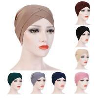 Women Muslim Turban Cancer Cap Hijab Hair Loss Hat Bandanas Head Scarf wrap
