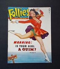 Follies Pin Up Magazine January 1951 Earl Moran Steffa Ice Skating GGA Burlesque
