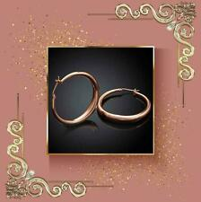 Classical stylish Beautiful 14K Rose Gold Plated Round Hoop Earrings