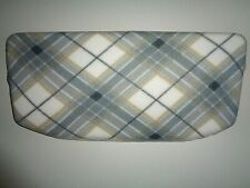 FLEECE TOILET TANK LID COVER * GRAY AND TAN PLAID *