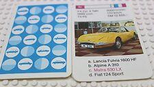 Auto Quartett Kartenspiel Einzelkarte 3 c Matra 530 LX