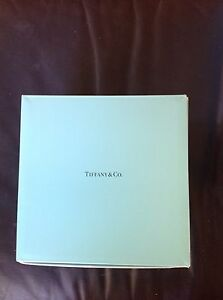 """EUC Large Tiffany Box With Ribbon And Packaging Approx. 7 5/8"""" On Each Side"""
