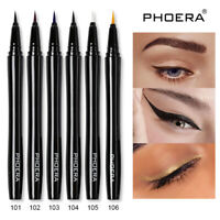 PHOERA BLACK WATERPROOF LIQUID EYELINER PEN BROWN SMUDGE PROOF EYE LINER MAKEUP