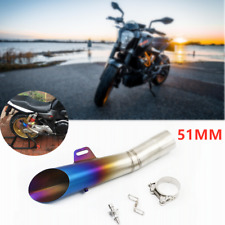 Universal Stainless Steel Motorcycle Street 51MM Exhaust Muffler Pipe DB-Killer