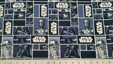 FAT QUARTER ~  STAR WARS CHARACTERS ~ 100% COTTON FABRIC 18