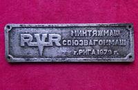 CCCP Locomotive Works Builders Sign WAGON Plaque Train Russian USSR Railroad '79