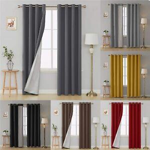 Deconovo Thermal Blackout Curtains Eyelet Silver Coating 53'' x 95'' 2 Panels