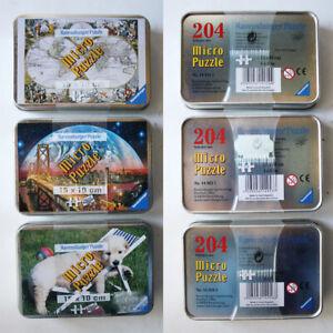 3X MICRO PUZZLE 204 PCS HISTORICAL WORLD MAP SAN FRANCISCO TIN CLEMENTONI NEW !