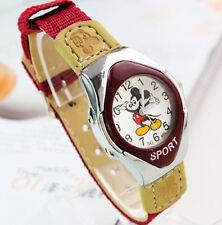 Boy Girl Kid Children Cute Mickey Mouse Sport Wrist Watch Birthday gift him her