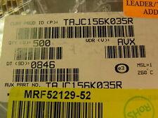 60 AVX TAJC156K035R 15Uf 10% 35V SMT Tantalum Capacitors