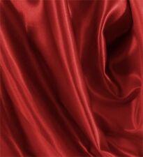 """5 Yards Shiny Bridal Satin Fabric 60"""" - Dark Red"""