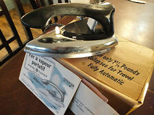 Vintage GE General Electric Canada Model F97 Steam & Dry Iron & Box + Manual