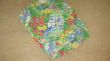 4 x seat cushions  floral on one side