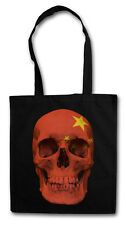 CLASSIC CHINA SKULL FLAG Hipster Shopping Cotton Bag - Totenkopf Schädel Banner