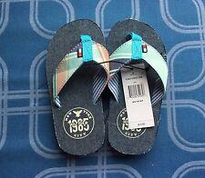 New Tommy Hilfiger Kids Boy Sandals US Kid Size XS 8 / 9, Blue Orange Flip Flops