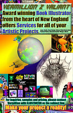Award Winning Illustrator Vermillion Z Valiant for hire bring your art alive NOW