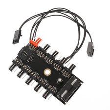 10 Way 3 gear PCI Cooler Cooling Fan Speed Controller Hub 4/3pin Power Socket